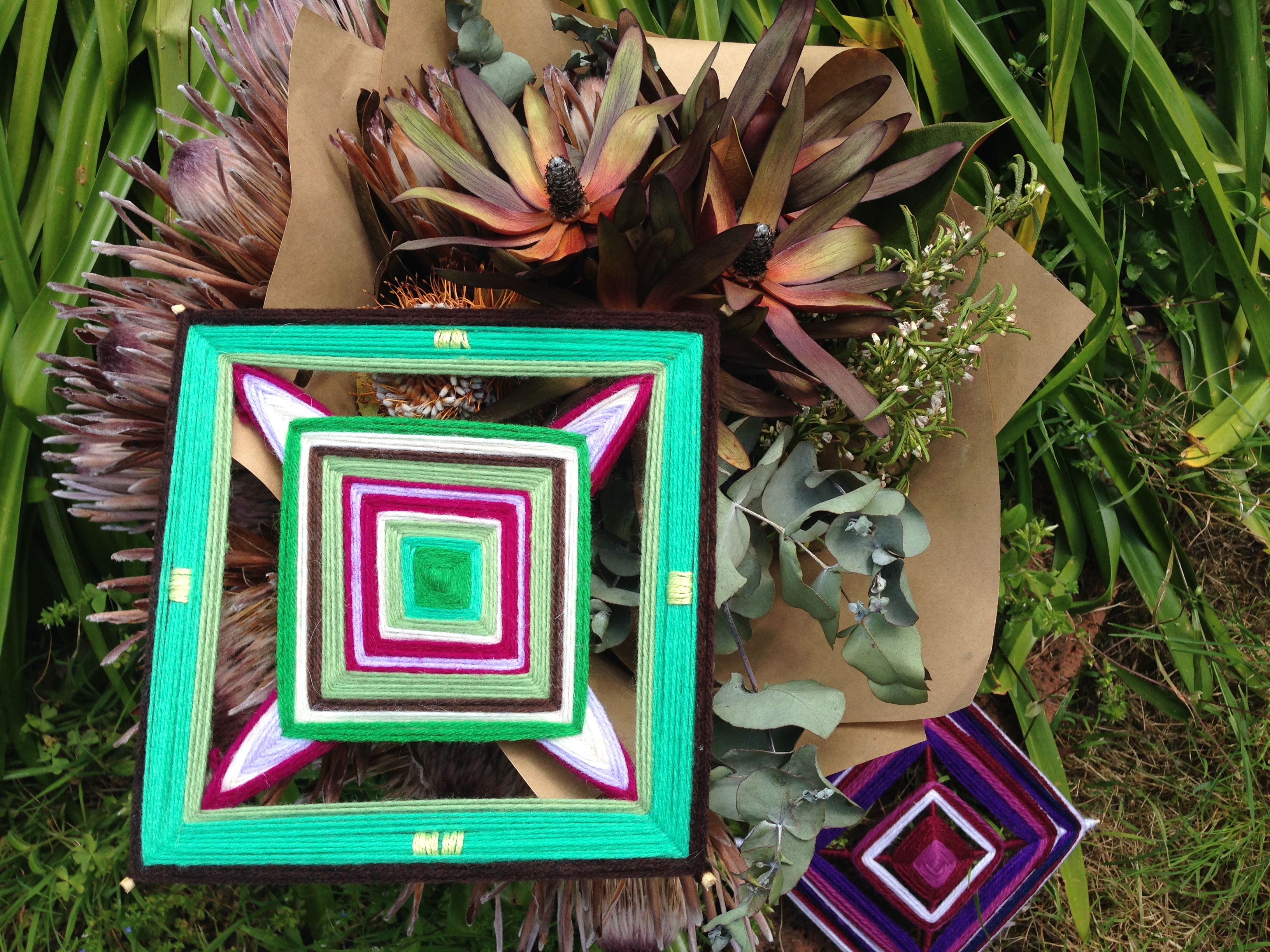The relationship between Mandalas & woven God's eye (Ojo de Dios)?